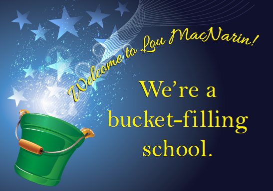 We are a bucket filling school